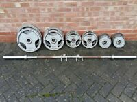 OLYMPIC WEIGHTS SET & BARBELL