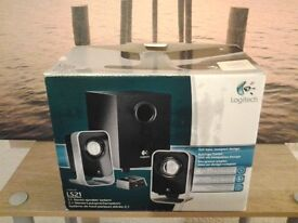 Logitech 2.1 speakers.