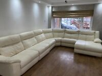 Beautiful 7 Seater recliner cream sofa for sale