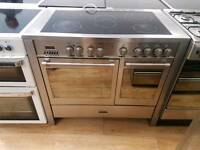 Kenwood Double Oven Electric Range Cooker 100cm width.3 months warranty