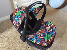 Customised Avengers Maxi Cosi Baby Car Seat