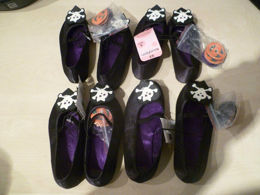 4 x Girls halloween Fancy Pumps - Brand new with Tags