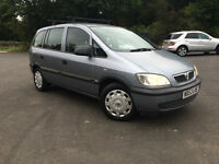 VAUXHALL ZAFIRA 7 SEATER 1.6 CLUB 2004 IN EXCELLENT CONDITION