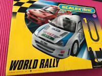 Scalextric World Rally set with Ford Focus and Subaru Imprezza WRX Cars