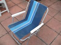 Blue and White - Fold able Chair - Ideal for Festival Season and Light Weight - Durable
