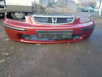 Honda civic ek ej9 red front bumper with grill