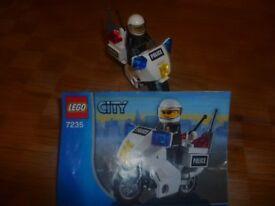 Lego City 7235 and 4641 Motorbike & Speedboat
