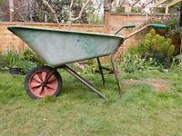 CAN DELIVER Beldray Green Plastic Wheelbarrow Rubber Tyre