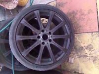 "Bmw M5 18"" Black Alloy wheel CAN POST"