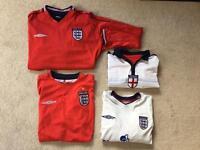 Men's large England football tshirt's