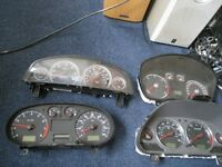 instument cluster dash binnacle clocks dials speedo ford focus vauxhall vectra volvo v40 seat leon