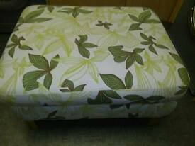 LARGE,DOUBLE PADDED FOOTSTOOL / POUFFE,