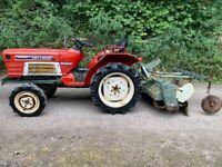 YANMAR YM1720D 4WD Compact Tractor & 1.3 meter Rotavator *** WATCH VIDEO *** ** 1676 Hours **