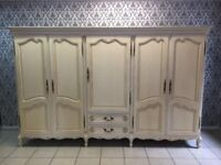 Wardrobe 5 door Oak Louis XV,French style,Delivery possible
