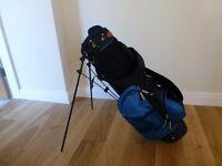Orge Blue Junior Golf bag with stand, raincover, 9 iron, 7 iron and putter
