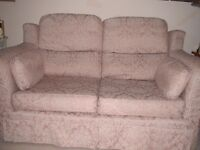 Large 3 seater and 2 seater settee with loose covers in Beige