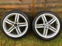 2x Genuine BMW 208 18 inch 8J alloy wheels E87 1 3 series