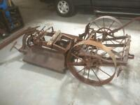 Rusty Antique transplanter/ garden centerpeice