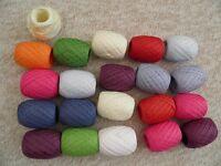 20 rolls of coloured raffia
