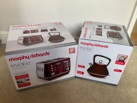Matching Red Toaster and Kettle