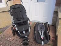 QUINNY BUZZ STROLLER WITH ATTACHABLE MAXI COSI PEBBLE CAR SEAT