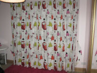 Children's Curtains, thermal black-out fully-lined. Each 2075mm wide x 2014 drop. Ex John Lewis. £55