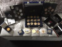 Various Royal mint collector coins