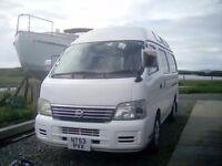 Nissan caravan two wheelchair mobility van - camper