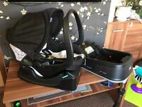 Baby car seat 0+ with 2 bases isofix + easyfix