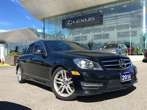 2014 Mercedes-Benz C-Class 3owners Lthr AWD Btooth Sroof