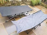 2 x camp beds