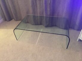 Coffee table - glass coffee table