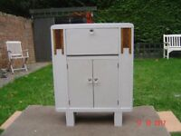 Retro, Shabby Chic. Chalk Painted Cupboard. Ideal for a Bathroom or Bedroom. Can Deliver.
