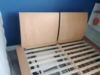 Double bed with hardwood frame