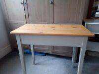 Light grey and pine desk