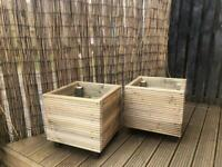 Deck board planters