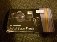 Boxed digital external flash for DSLR camera