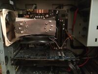 Intel 3Ghz Quad core, 8gb Ram, motherboard and heat sink with fan