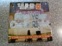 Play Your Cards Right Board game based on the TV show. UNUSED