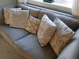 3 seater sofa and snuggle sofa