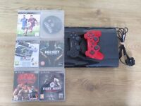 Playstation 3 (PS3) With 6 games, 2 controllers and power cable