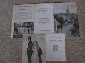 Vintage 1960's Memorabilia, including Bristol Grammar School Programme