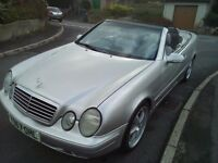 *STUNNING MERCEDES CLK 200 CONVERTIBLE LOVELY BRIGHT SILVER*