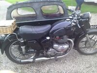 Ajs model 20 with watsonian double adult sidecar