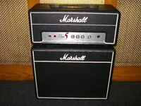 Marshall Class 5 valve head plus matching speaker cabinet