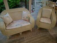 White cane conservatory furniture