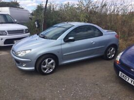 CONVERTIBLE PEUGEOT 206 cc ELECTRIC ROOF VERY CLEAN CAR BLACK LEATHER ELETRUC WINDOWS ROOF NICE CAR