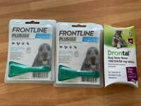 Frontline spot-on dogs x2 and de-wormer