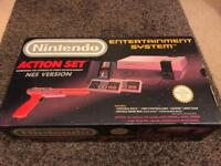 NES console Action Set in Box