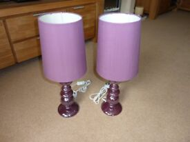 Twin Table Lamps and Shades